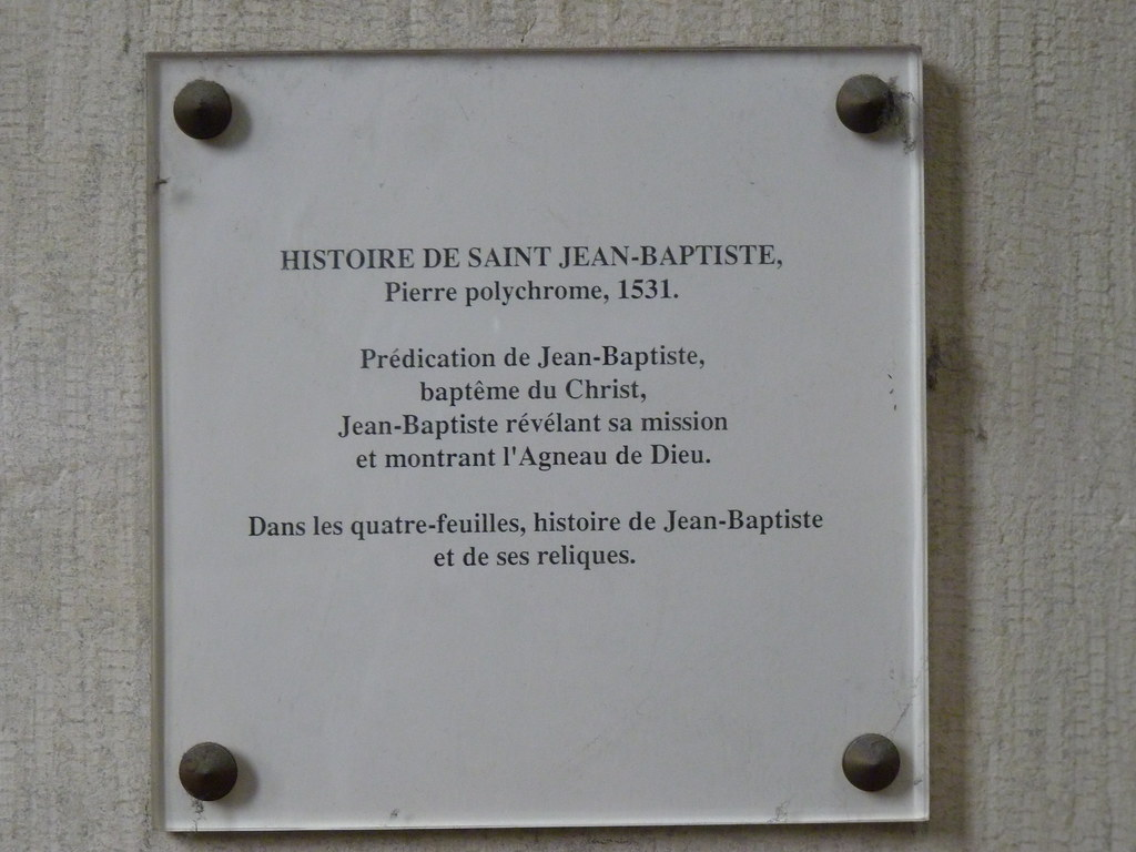 amiens cathedral - story of john the baptist info board