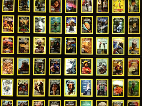 National Geographic Wall of Covers   by brownpau