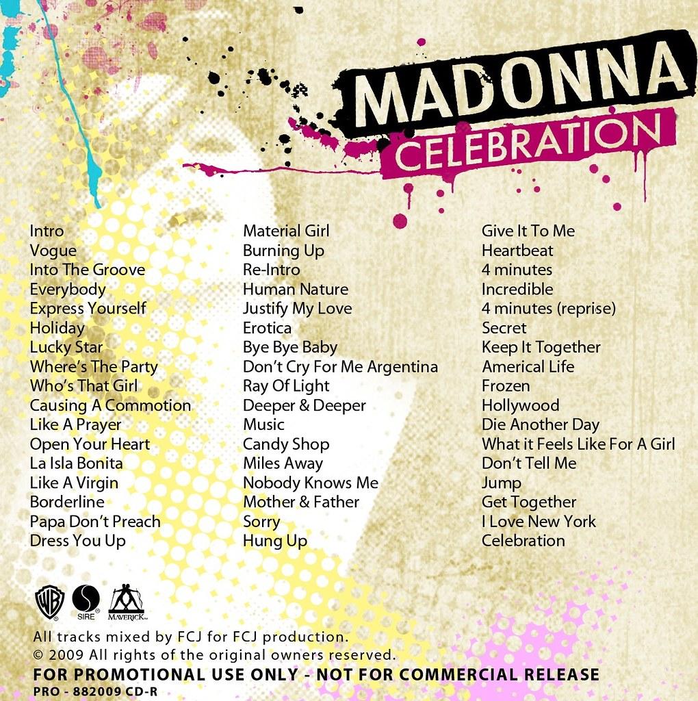 Madonna Celebration Promo +bk    johnmrinaldi   Flickr
