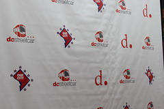 DC Streetcar step and repeat backdrop!