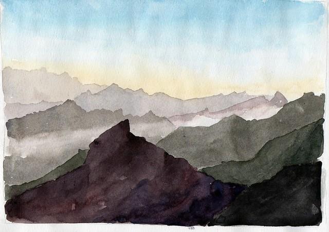Picos de Europa with mist