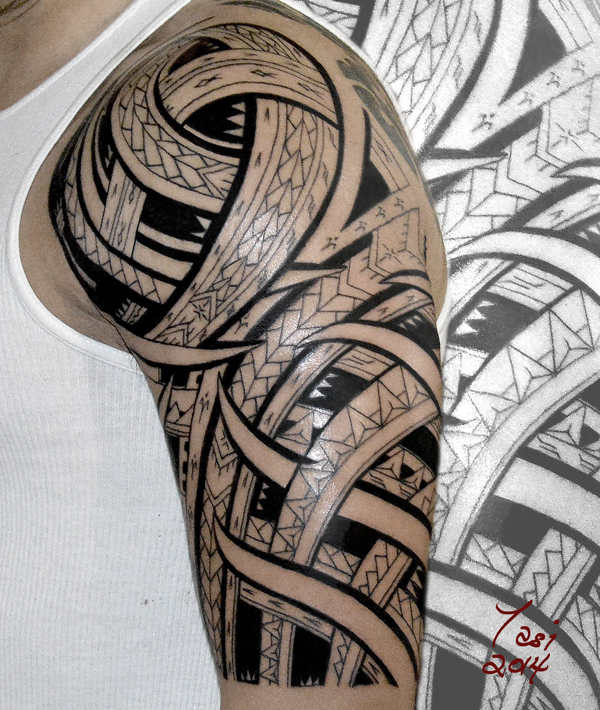 Samoan Tattoo Polynesian Tattoo Tasi Melah Flickr