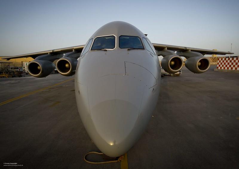 RAF BAE146 QC in Afghanistan