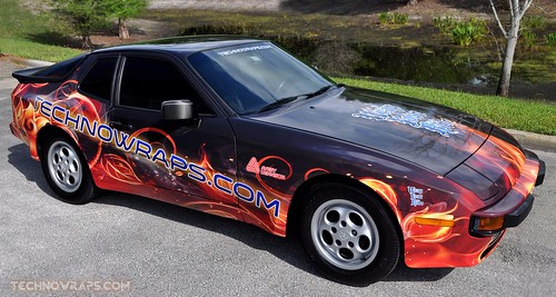 Porsche car wrap by TechnoSigns in Orlando, Florida