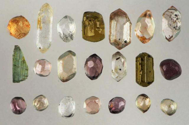 透明結晶 Transparent crystals