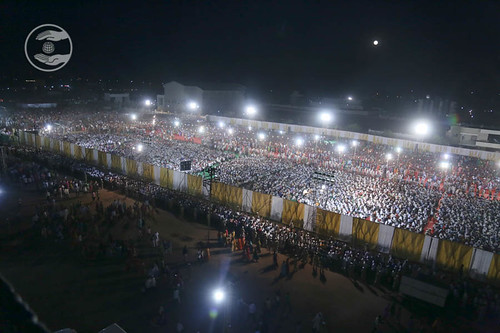 Arial view of Satsang Pandal