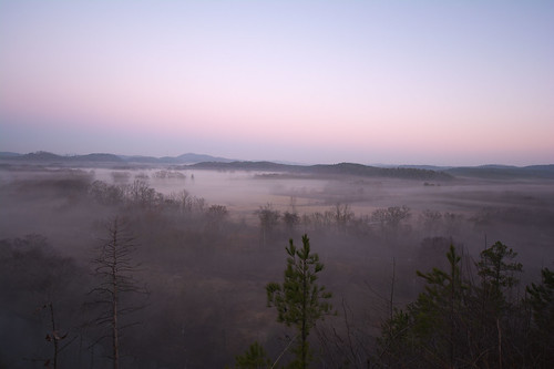 facingwest landscape sunrise hotspringsvillage arkansas