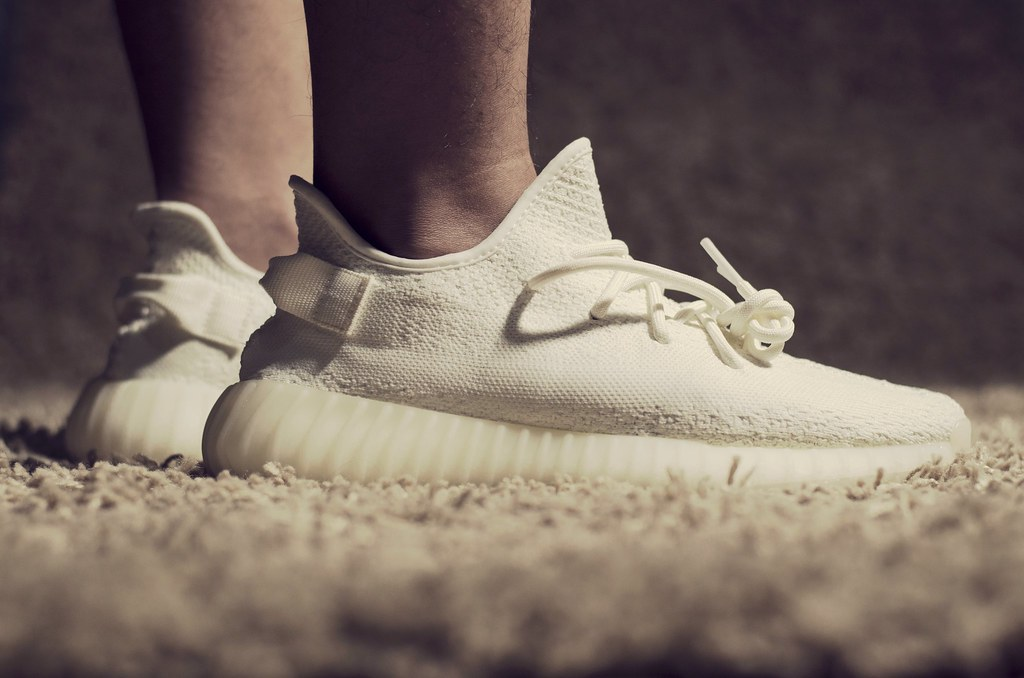 cream yeezys on feet ... Adidas Yeezy Boost 350 V2 'Cream White' - On Feet | by Hafidh Luthfi