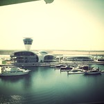 View from our room at the Yas Viceroy Abu Dhabi Hotel