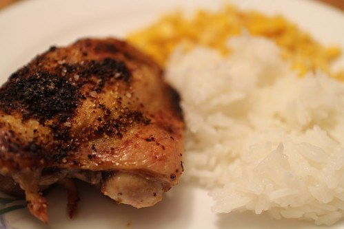 Lemon Pepper Chicken with corn and rice | by elsie.hui