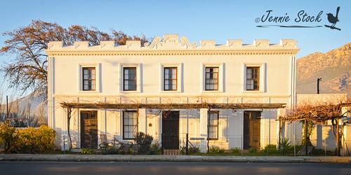 architecture sunrise buildings landscape southafrica longstreet nationalmonument montagu capegeorgian