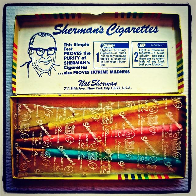 1960s Nat Sherman Fantasia Colored Cigarettes 1