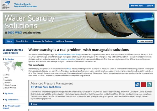 Water Scarcity Solutions website   by Sensical