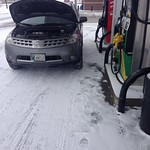 Image: Stopped for gas in Rochester MN and the Nissan died…