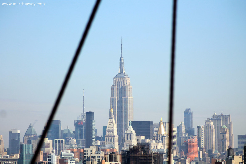 Empire State Building, from the Brooklyn Bridge.