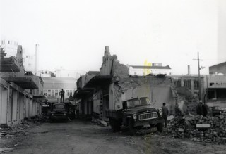 Broadway buildings being demolished, May 1970