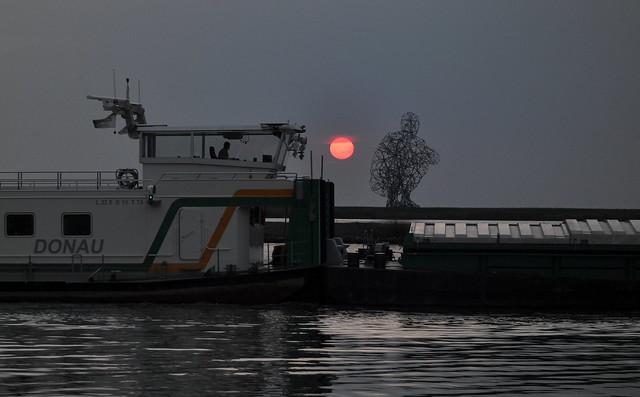 Sunset, exposure Lelystad
