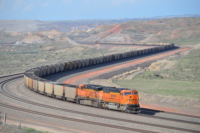 A coal train at Converse Junction, Converse Wyoming