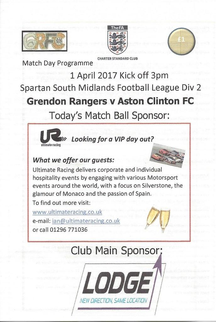 Grendon Rangers v Aston Clinton 01.04.2017