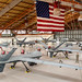 "MQ-9 ""Reaper"" remotely piloted aircraft are lined up in the 49th Aircraft Maintenance Squadron hanger at Holloman AFB, N.M., Dec. 16, 2016. The squadron supports the 6th Reconnaissance Squadron as well as the 9th and 29th Attack Squadrons, enabling the graduation of pilots and sensor operators in support of the Air Force's largest Formal Training Unit. Additionally, the Airmen of the 49th Aircraft Maintenance Squadron continuously deploy in support of Combatant Commanders' armed intelligence, surveillance, and reconnaissance requirements. (U.S. Air Force photo by J.M. Eddins Jr.)"