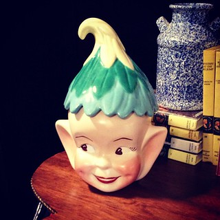 Creepy little #elf cookie jar at the #yyc Inside Avenue Antique Mall | by voyagevixen2