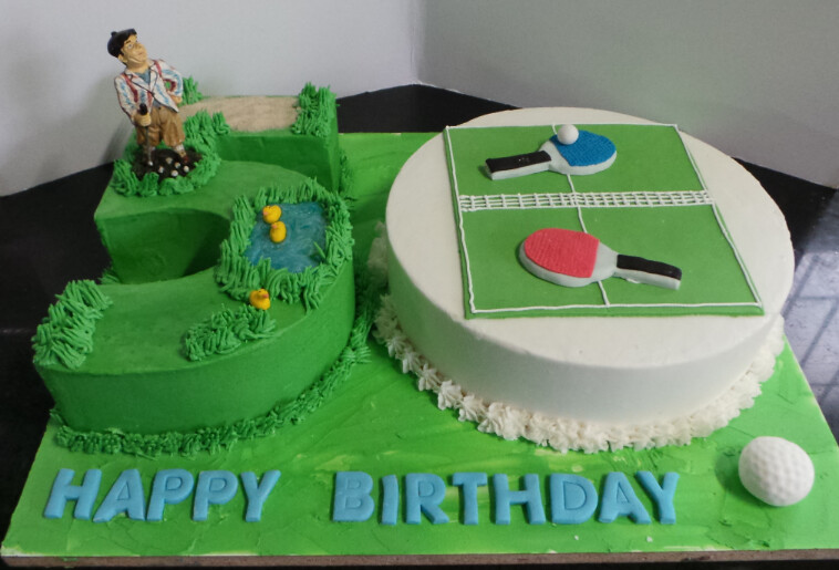 Swell Golf Table Tennis Themed Mens 50Th Birthday Cake Willi Home Interior And Landscaping Pimpapssignezvosmurscom