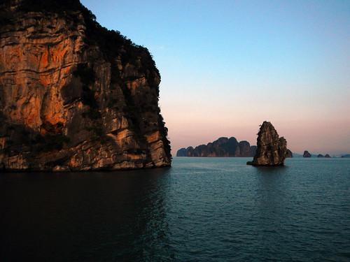 Sunset on Halong Bay, Vietnam