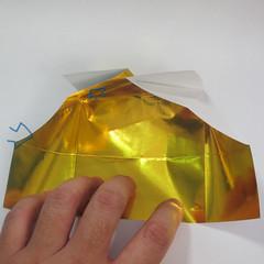 วิธีพับกระดาษเป็นรูปหัวใจติดปีก (Heart Wing Origami) 012