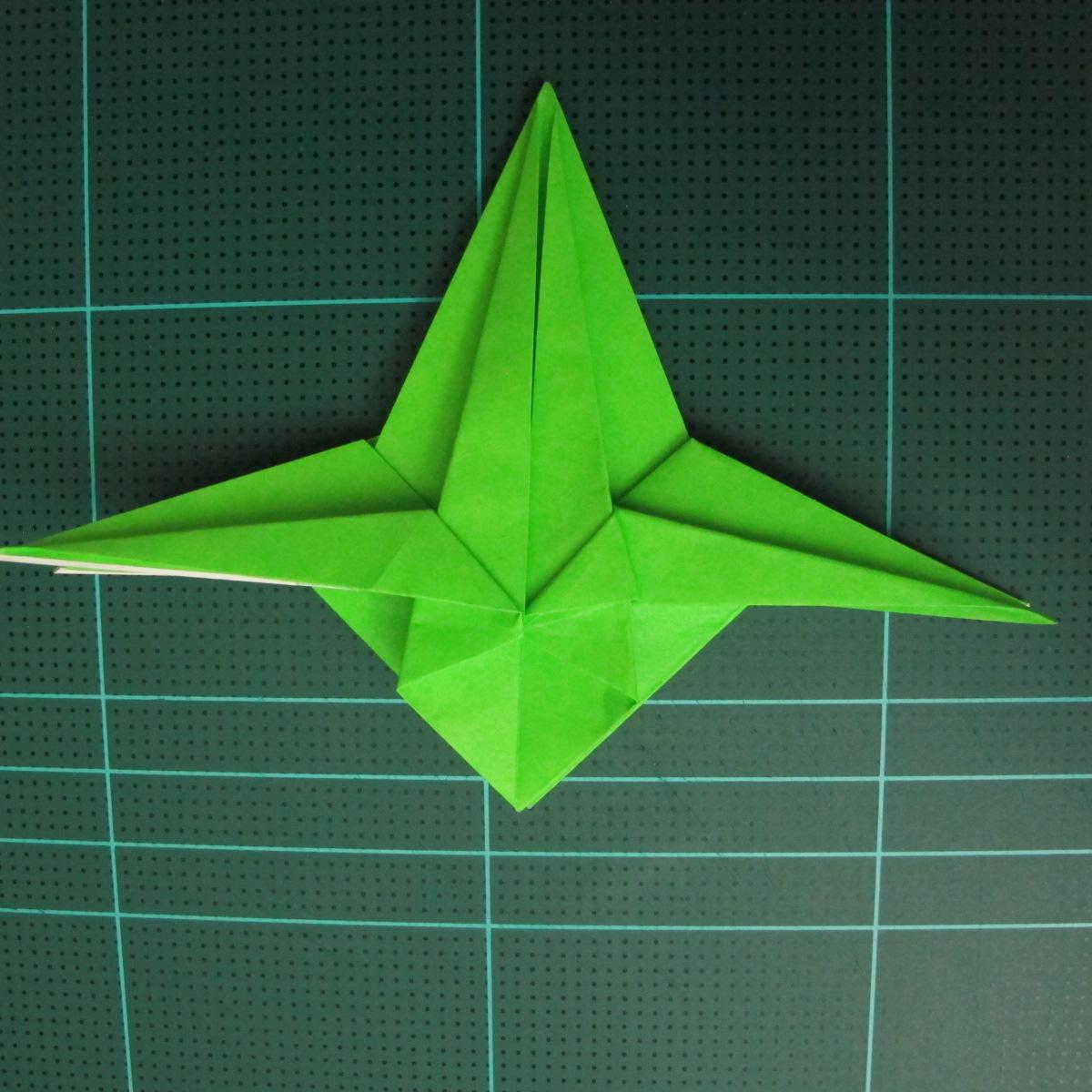 วิธีพับกระดาษเป็นจรวด X-WING สตาร์วอร์ (Origami X-WING) 028