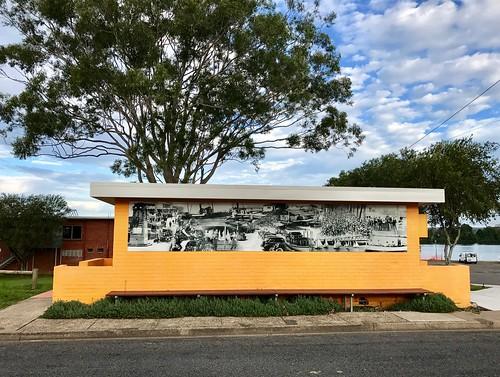 manningriverhistoricalmural toiletblock taree nsw mural australia historictaree historicmanningvalley