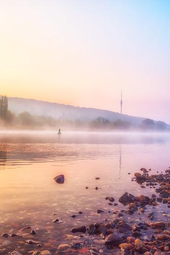 sunrise dresden sonnenaufgang fog nebel elbwiesen germany elbe sachsen de