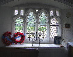 window and wreathes
