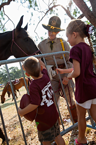 Parsons Mounted Cavalry with future Aggies