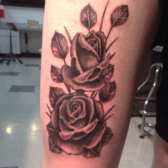 d0a916621e345 #tattoo #blackandgrey | by Roses. Inspired by Tim Hendricks- much respect. # tattoo #blackandgrey | by
