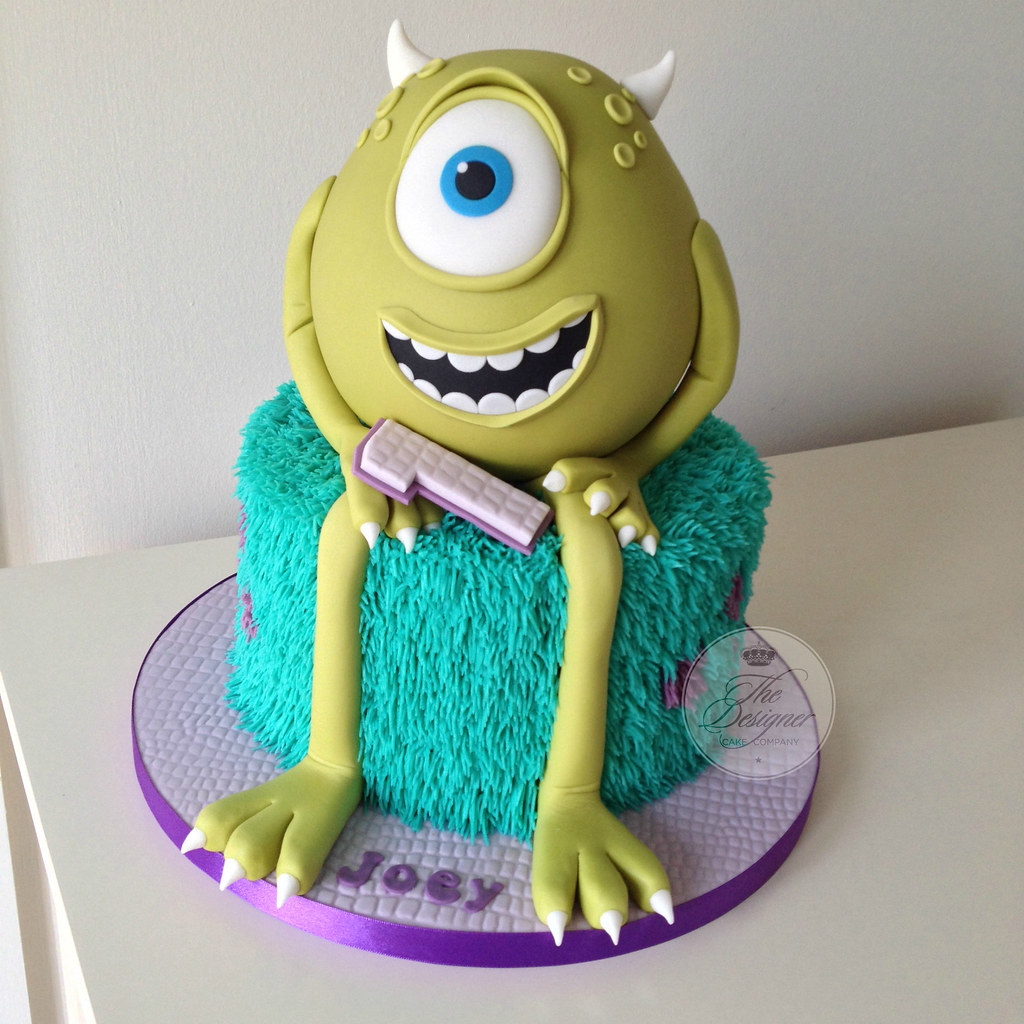 Tremendous Monsters Inc 1St Birthday Cake Isabelle Bambridge Flickr Personalised Birthday Cards Sponlily Jamesorg