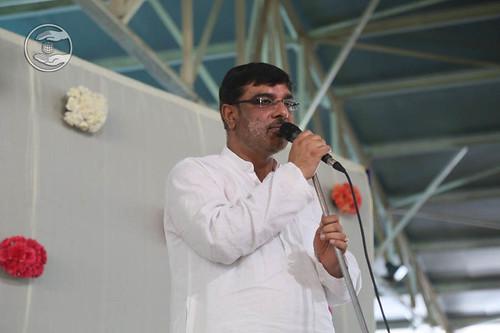 Stage Secretary, Vivek Mauji from Preet Vihar, Delhi