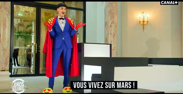 Nuno Roque hosting 'Le Gros Journal' (CANAL+)