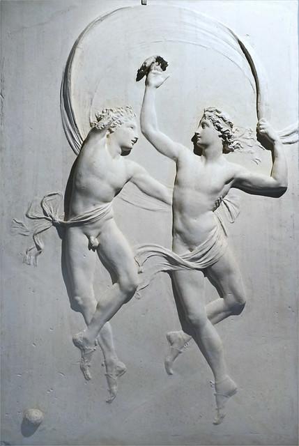 Danseurs d'A. Canova dans la salle d'Alexandre du Casino Nobile (Villa Torlonia, Rome)