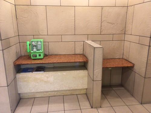 公衆電話スペース