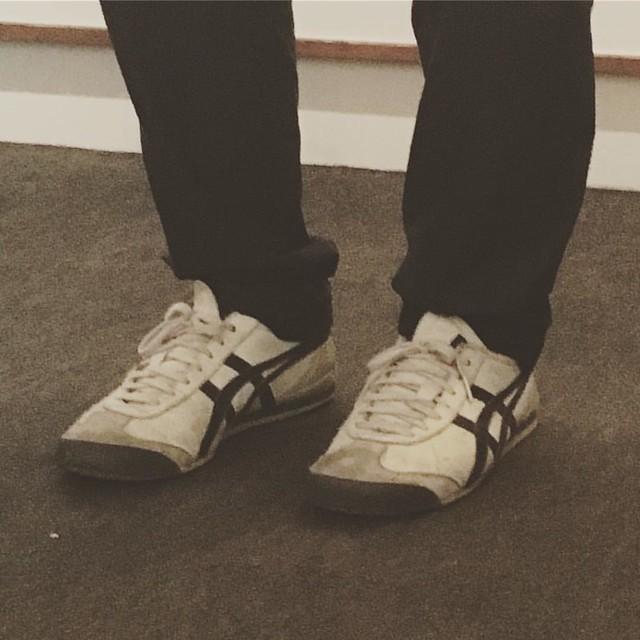 小林耕平さんの靴がカッコ良かった。オニツカタイガー。