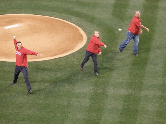 Angels Opening Day First Pitch 2012