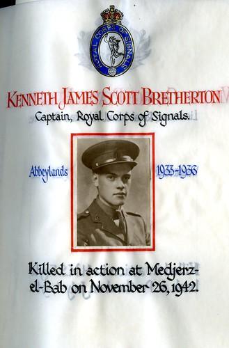 Bretherton, Kenneth James Scott (1919-1942) | by sherborneschoolarchives