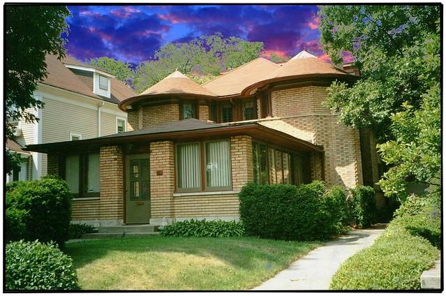 George W. Furbeck House ~ Oak Park Il ~ Architect ~  Frank W Llyod Wright ~ Film 1990s