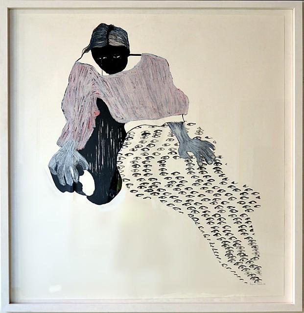 Le Zimbabwe présentait les oeuvres de la peintre Virginia Chihota. Je vous en montre quatre ici.