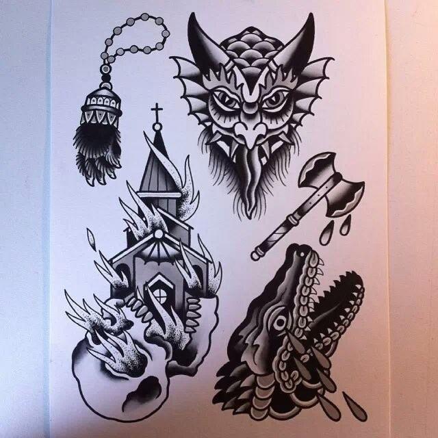 4bd59a72acc02 ... #tattoo #tatouage #tattooflash #flash #flashsheet #traditional # traditionaltattoo #oldschool