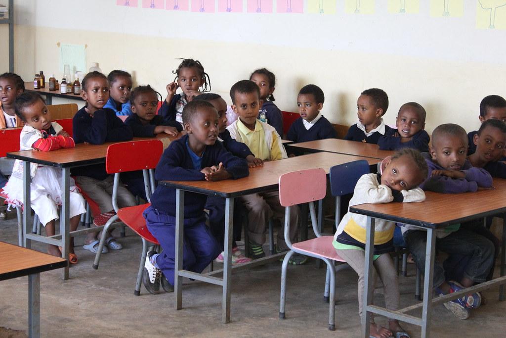 Primary school students. Addis Ababa, Ethiopia