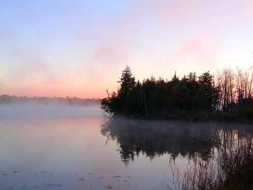 park autumn fall sunrise silverlake provincial