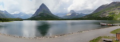 Many Glacier Lake at Glacier NP in MT pano1 7-21-10