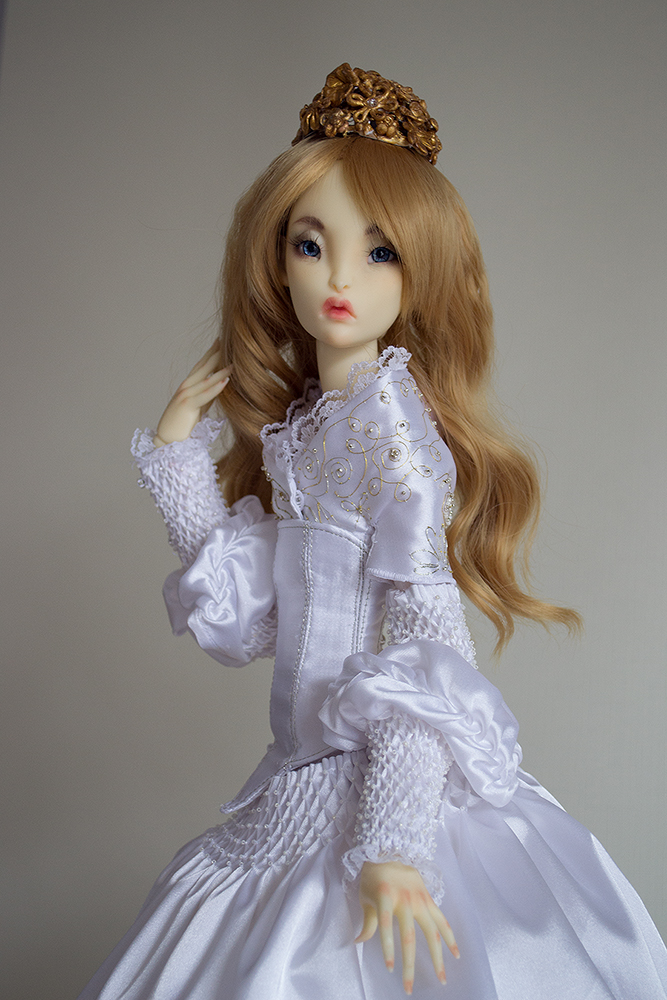 Outfit Belle for Lillycat SD doll on Lune body