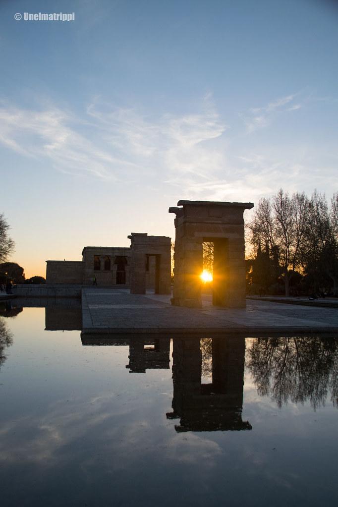 Auringonlasku Templo de Debodilla Madridissa